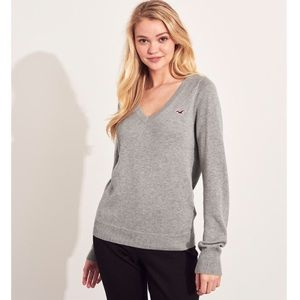 Hollister Co. Grey Ribbed Sweater